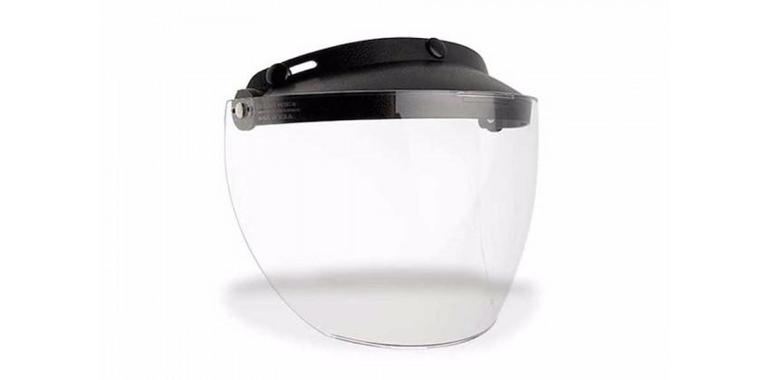 Custom 500 Aksesoris Helm Visor Non Flat Hitam smoke , transparan 0