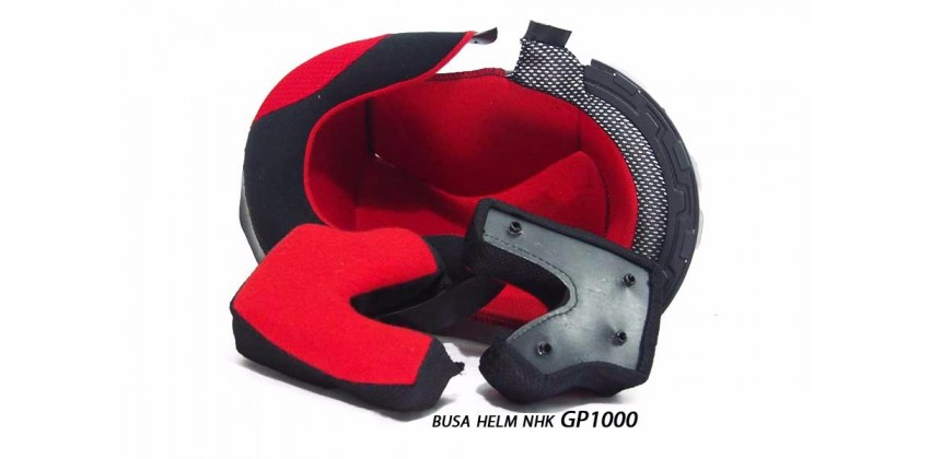 GP 1000 Aksesoris Helm Crown Pad Flat Hitam 0