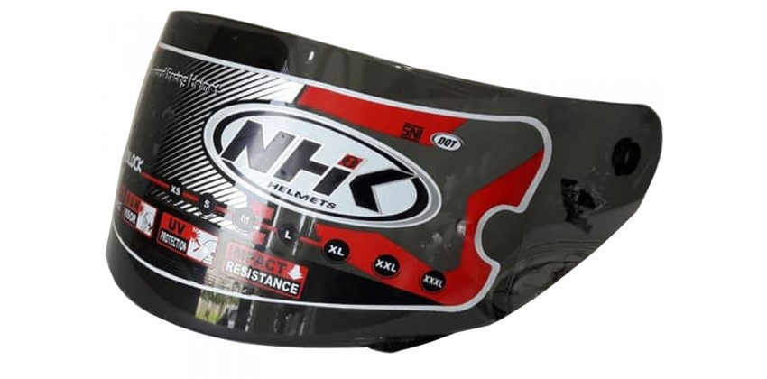 Gp Tech Aksesoris Helm Visor Flat Hitam 0