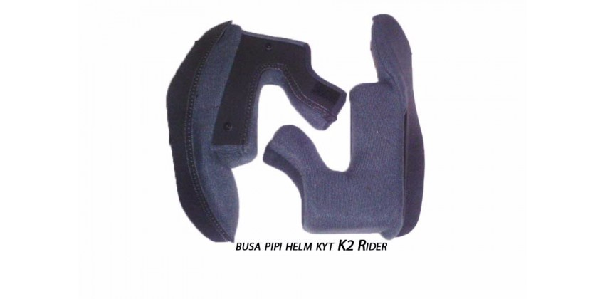 K2 Rider Cheek Pad Biru, Hitam 0