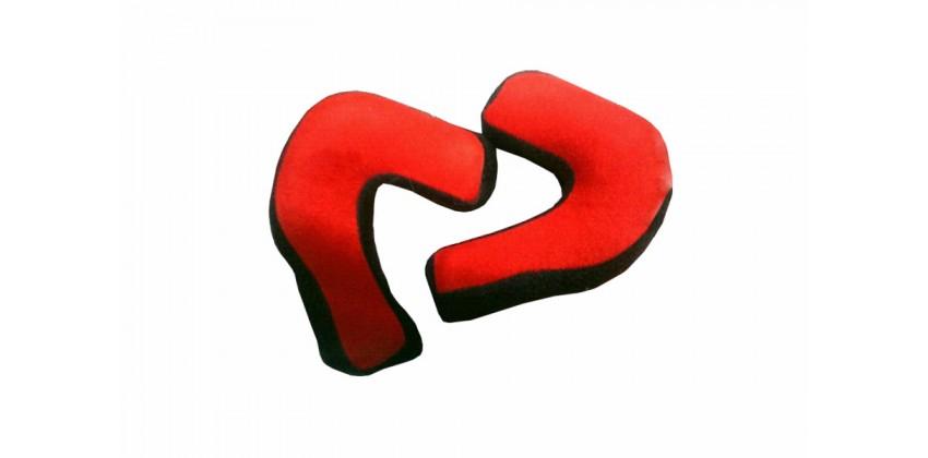 Reventor Aksesoris Helm Cheek Pad  Merah Busa Pipi 0
