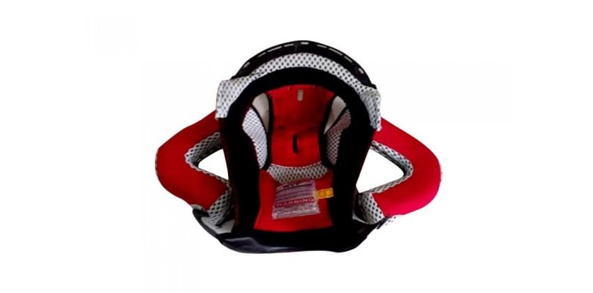 Romeo Crown Pad  Hitam, Merah, Putih Busa + Visor 0
