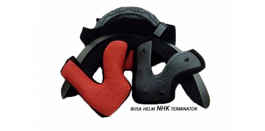 Terminator Aksesoris Helm Crown Pad Flat Hitam 0
