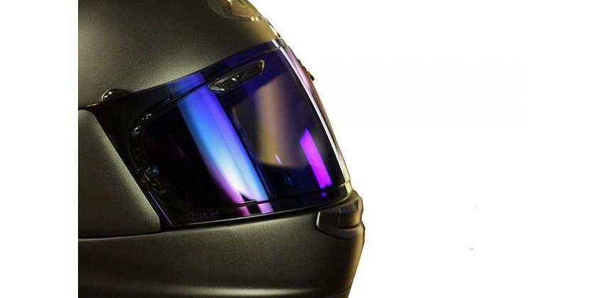 VAS Aksesoris Helm Visor Flat Biru Iridium 0