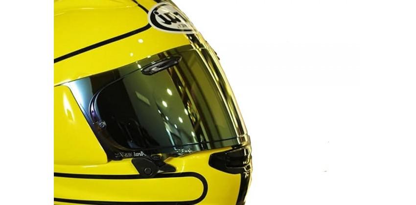 VAS Aksesoris Helm Visor Flat Gold Iridium 0