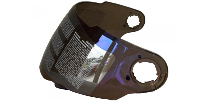 ZS-806 Aksesoris Helm Visor Non Flat Biru Iridium 0