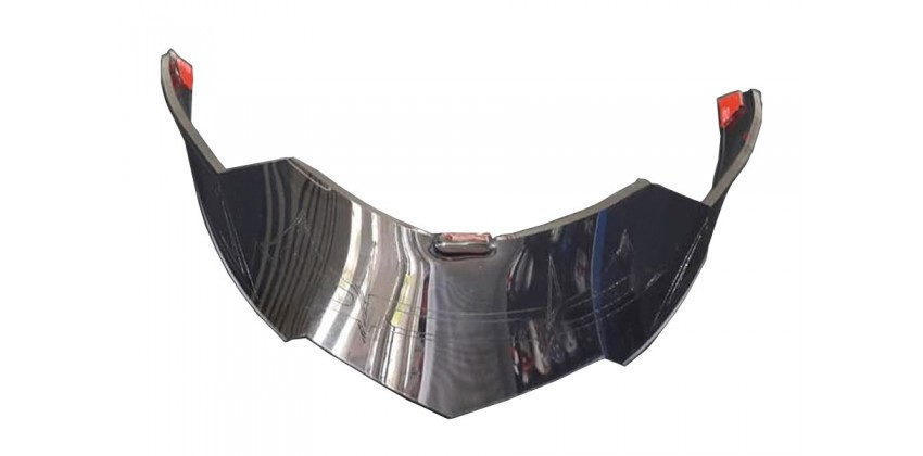 ZS-811 Aksesoris Helm Spoiler  Silver 0