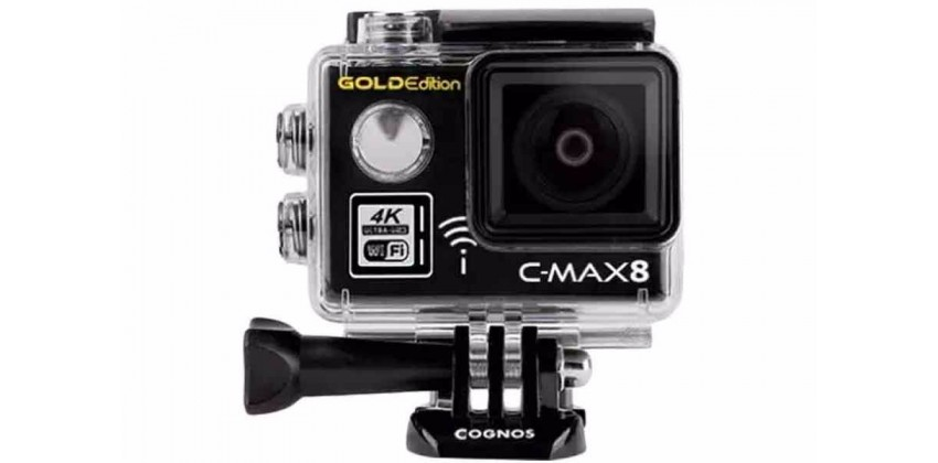 C-MAX 8 Gold Edition Gadget Action Cam Black 0