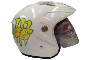 GP Helmet 46 Helm Half Face Putih