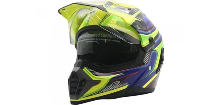 Cargloss ALD Sircon Supermoto Blue FZ Yellow  Helm Full-face 0