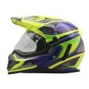 Cargloss ALD Sircon Supermoto Blue FZ Yellow  Helm Full-face 1