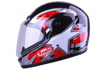 ANDES AS-555 Pearl Black  Helm Full-face