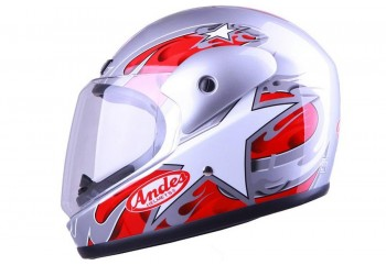 ANDES AS-555 Silver  Helm Full-face