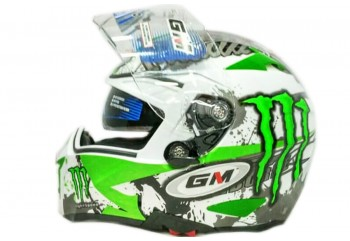 Airborne Light Speed Full-face White Green