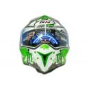 GM Airborne Light Speed Full-face White Green 1