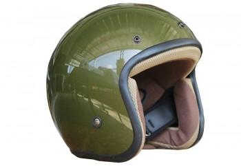 Sada Helmet Basic-Hijau Glosy  Helm Half-face