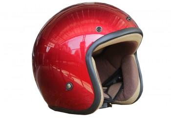 Basic-Merah Glossy Half-face