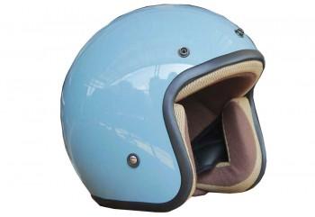 Sada Helmet Basic Glossy Helm Half Face Merah