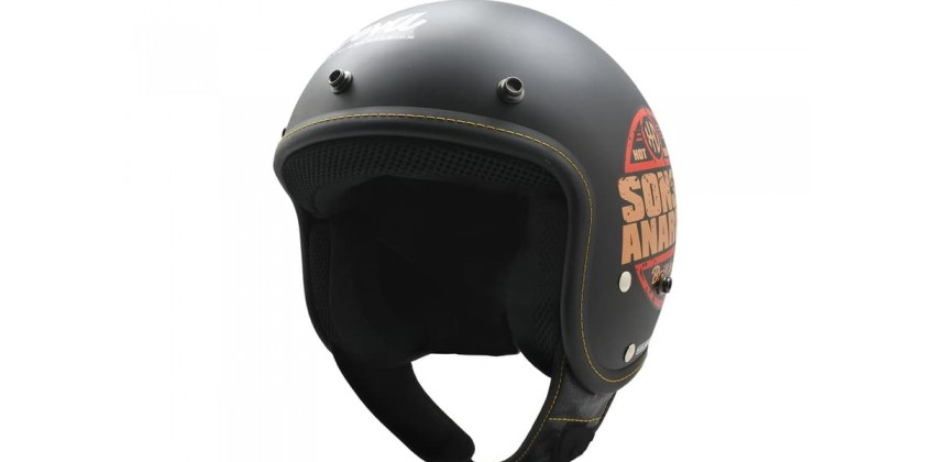 Cargloss CFL Sons Of Anarchy Deep Black SG  Helm Retro 0