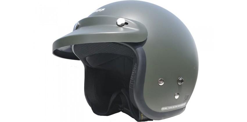 Cargloss CF Retro Army Gun Metal  Helm Half-face 0