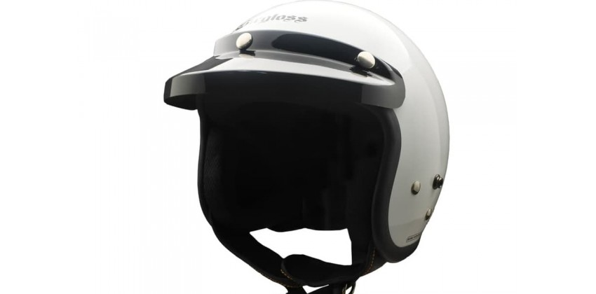 Cargloss CF Retro Army Super White  Helm Half-face 0
