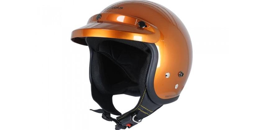 Cargloss CF Retro Brilliant Orange  Helm Half-face 0
