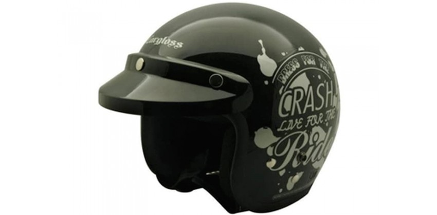 Cargloss CF Retro Crash Ride Deep Black  Helm Half-face 0