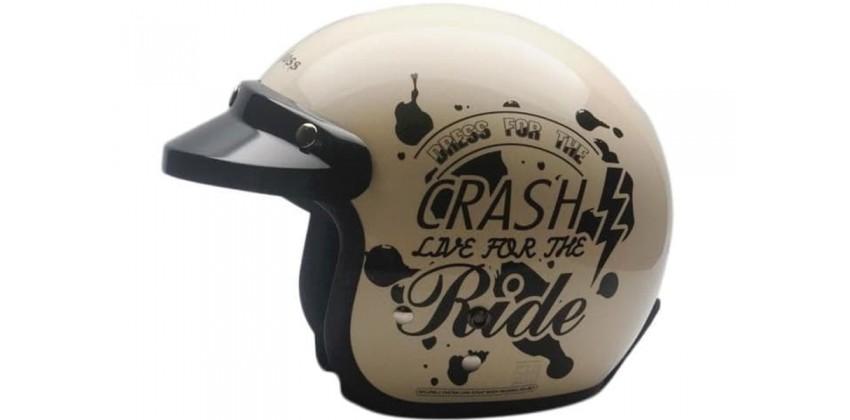 Cargloss CF Retro Crash Ride Ivory  Helm Half-face 0