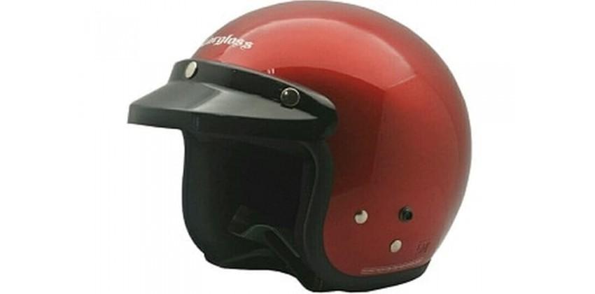 Cargloss CF Retro Deep Red Met  Helm Half-face 0