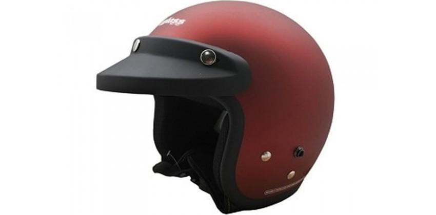 Cargloss CF Retro Deep Red Met Doff  Helm Half-face 0