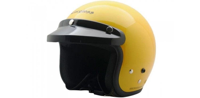 Cargloss CF Retro Excotic Yellow  Helm Half-face 0