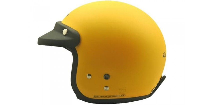 Cargloss CF Retro Excotic Yellow Doff  Helm Half-face 0