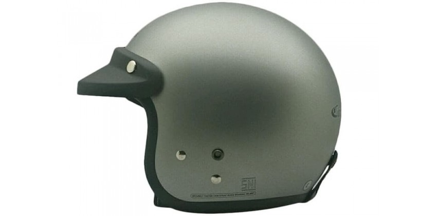 Cargloss CF Retro Silver Mett 8 Doff  Helm Half-face 0