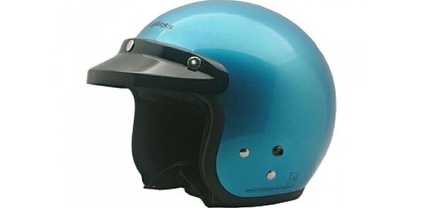 Cargloss CF Retro Slide Ice Blue Met  Helm Half-face 0