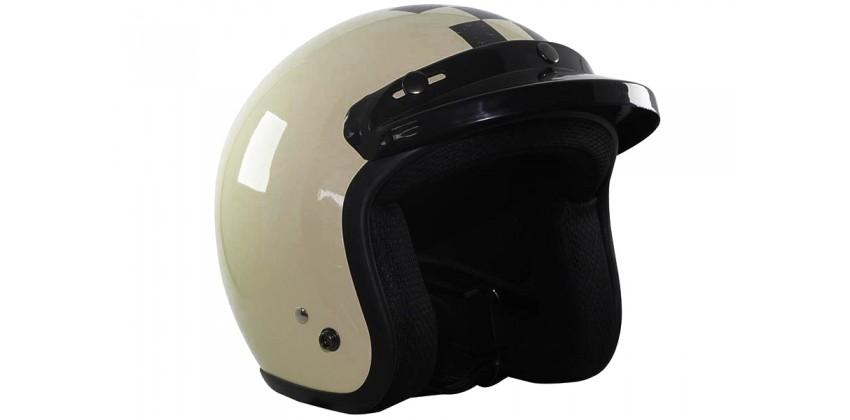 CHECKER  Helm Retro Cream XL 0