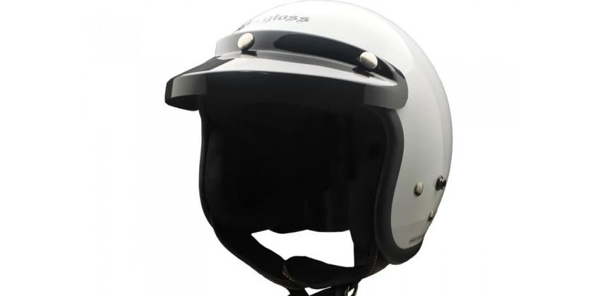 CARGLOSS CF Retro Army Super White  Helm Half-face 0