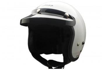 CARGLOSS CF Retro Army Super White  Helm Half-face