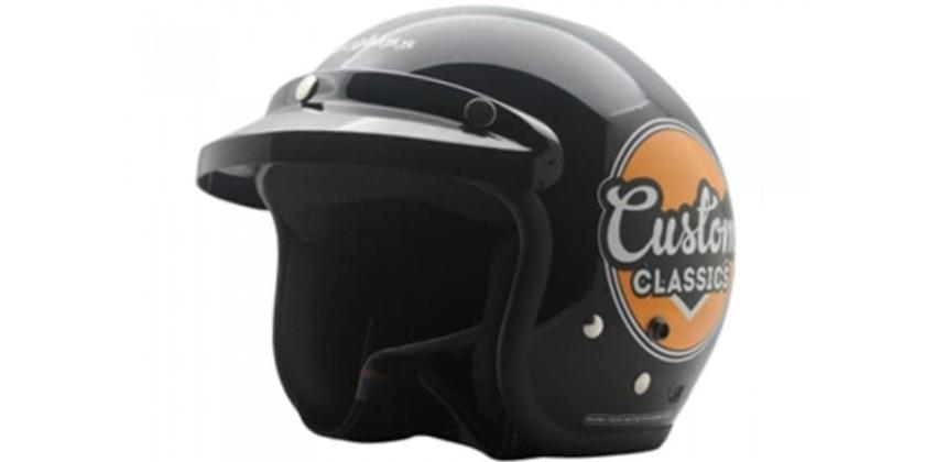 Cargloss CF Retro Custom Classic Deep Black  Helm Half-face Half-face 0