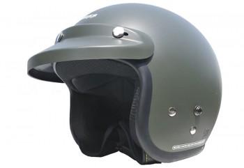 CARGLOSS CF Retro Green Doff  Helm Half-face