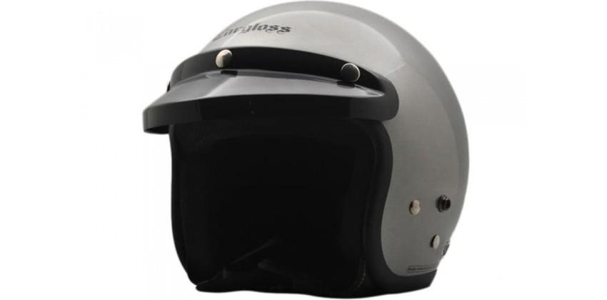Cargloss CF Retro Silver Met  Helm Half-face Half-face 0