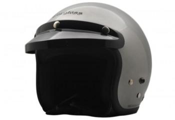CARGLOSS CF Retro Silver Met  Helm Half-face