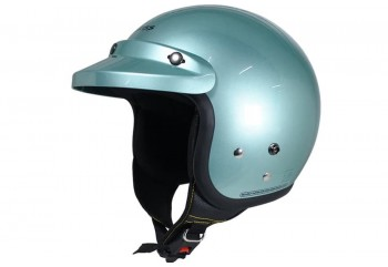 CARGLOSS CF Retro z Green  Helm Half-face Half-face