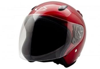 CARGLOSS YCN Deep Red Met  Helm Half-face