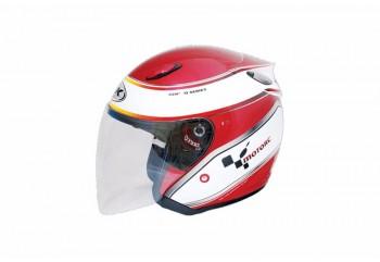 INK Centro Jet #1 Helm Half Face Merah