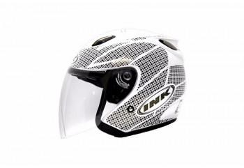 INK Centro Jet Diamond Helm Half Face Putih