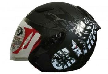 KYT DJ Maru #10 Helm Half Face Putih
