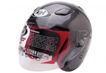 KYT DJ Maru Solid Helm Half Face Ungu