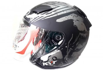 KYT DJ Maru Venom Helm Half Face Hitam