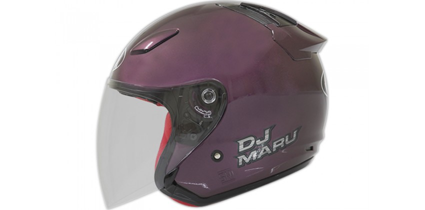 DJ Maru - Solid Deep Purple  Helm Half-face Deep Purple M 0