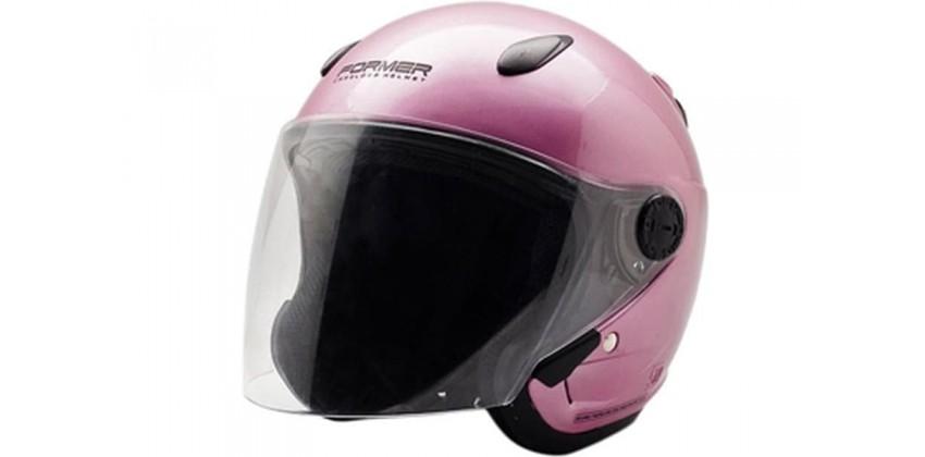 Cargloss Devil Of Former Powder Pink  Helm Half-face 0